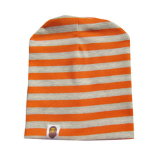 Children Striped Cap 1-3 Years Old Fashion Baby Cap Knitted Warm Cotton Toddler Kids Girl Boy Print Hats(China (Mainland))