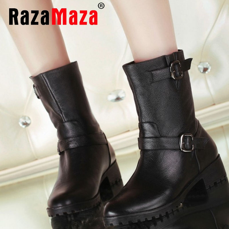women real natrual genuine leather flat ankle boots half short botas winter boot snow warm footwear shoes R7656 size 34-39<br><br>Aliexpress