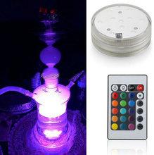 2015 Glass Hookah Shisha Water smoking Pipe Led Chicha light For Wedding Party Centerpice Decoration
