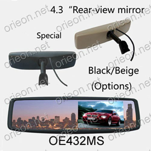 Hot selling 1pc lot New 4 3 TFT LCD Screen Special Original Rear View Mirror Car