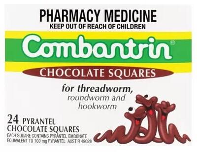 Combantrin carrés de chocolat 24 vermifuges traitement pour enfants, Adultes fabriqué en australie(China (Mainland))