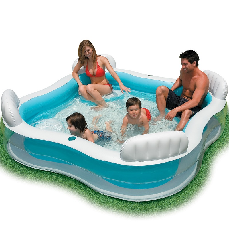 Intex Inflatable Swimming Pool Backrest With Seat Family Swimming Pool Inflatable Pool Square