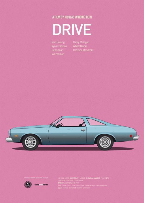 Drive Film Custom Best Art Stylish Classical Home Decor Fashionable Mondern Poster Size (50x76cm) Wall Sticker Free Shipping(China (Mainland))