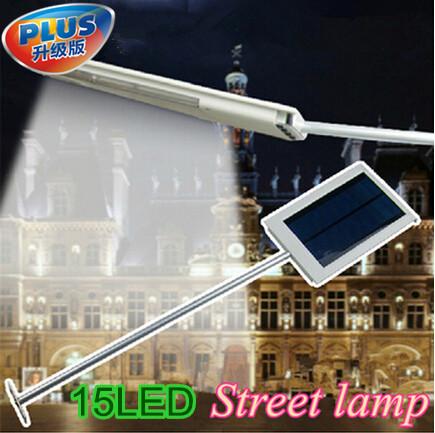 15 LED Solar Sensor Lighting Lamp Solar Powered Panel LED Street Light Outdoor Path Wall Emergency Lamp Security Spot Light(China (Mainland))