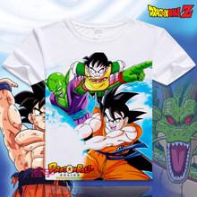 Новая японская аниме Dragon Ball Z футболка Супер Saiyan футболка с принтом Мужская Сон Гоку мужские футболки одежда высокого качества XD-015(China)