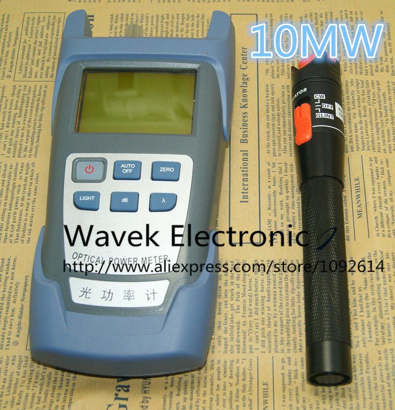 2 In 1 FTTH Fiber Optic Tool Kit Fiber Optical Power Meter -70 + 10dBm and 10km 10MW Visual Fault Locator Fiber optic test pen(China (Mainland))