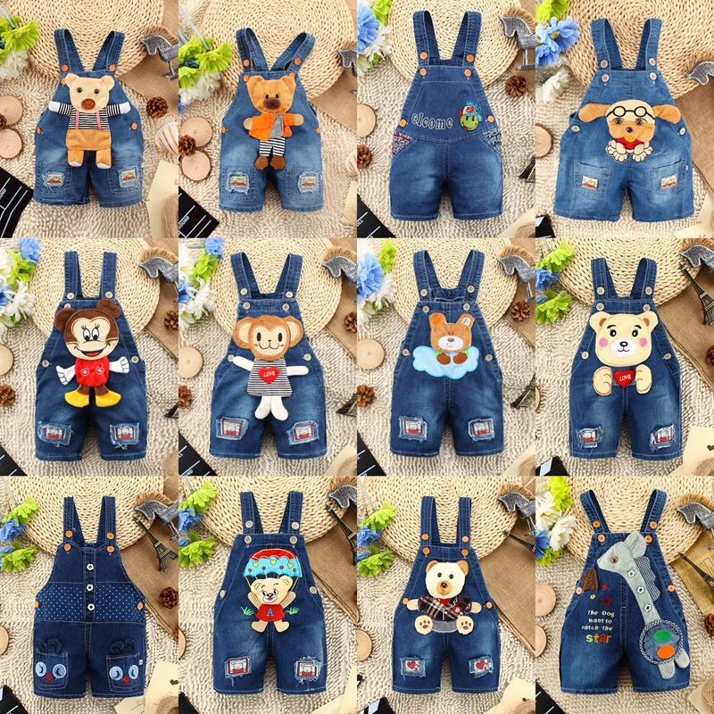 original single 2015 New Spring Autumn Boy Girl bib Overall Jumpsuit Jeans Children Jean Trousers Baby