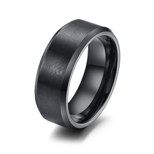 Vnox нержавеющей стали 316L мужчины кольцо 8 мм черный & серебряный и позолоченный кольца для женщины мужчины ювелирные изделия(China (Mainland))