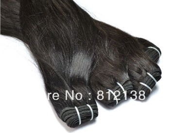 """3pcs/lot straight virgin Malaysia remy human hair extensions 8""""-30"""" machine weft dhl free shipping, HS-H105"""