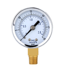 0~30psi 0~2bar Mini Pressure Gauge Dial Air Compressor Meter Hydraulic Pressure Tester Manometer Double Scale Pressure Measurer(China (Mainland))