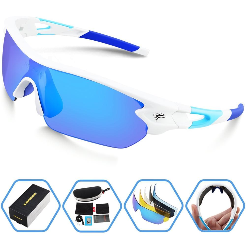Polarized Sports Sunglasses With 5 Interchangeable Lenes for Men Women Running Driving Fishing Golf Baseball Glasses TR002(China (Mainland))
