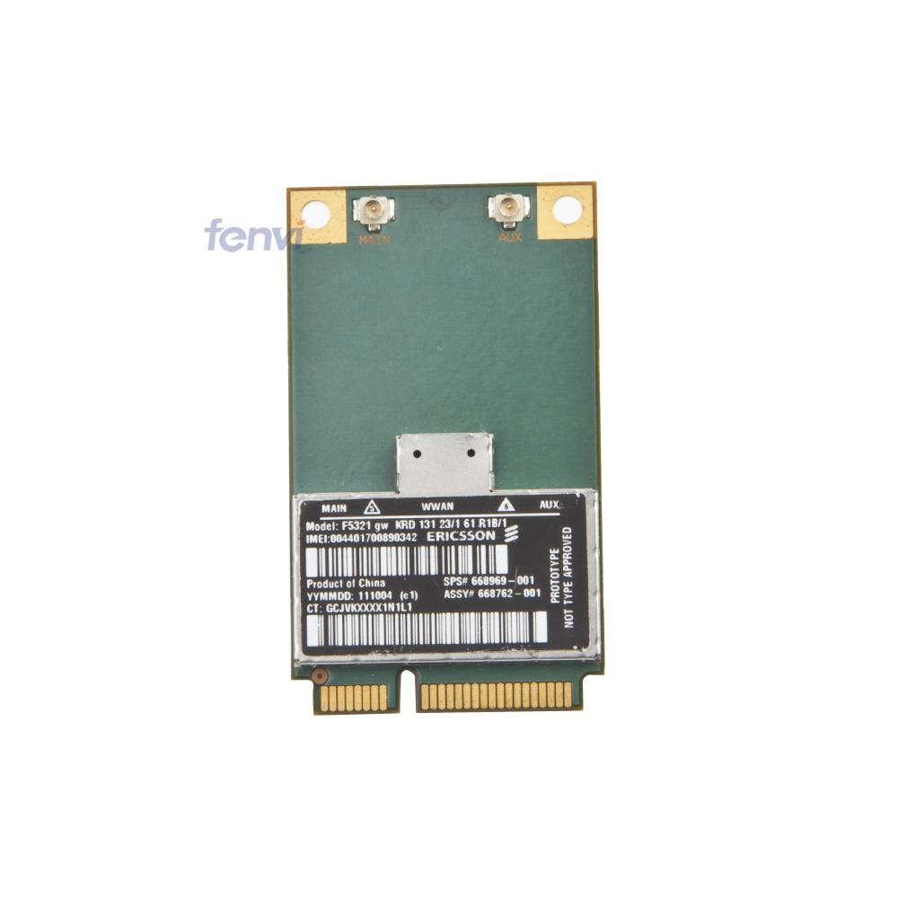 Ericsson F5321GW Wireless 3G WWAN GSM GPRS EDGE UMTS WCDMA HSPA+ GPS PCI-E Card SPS:668969-001 for HP 4341S 4340S 4540S 2570P(China (Mainland))