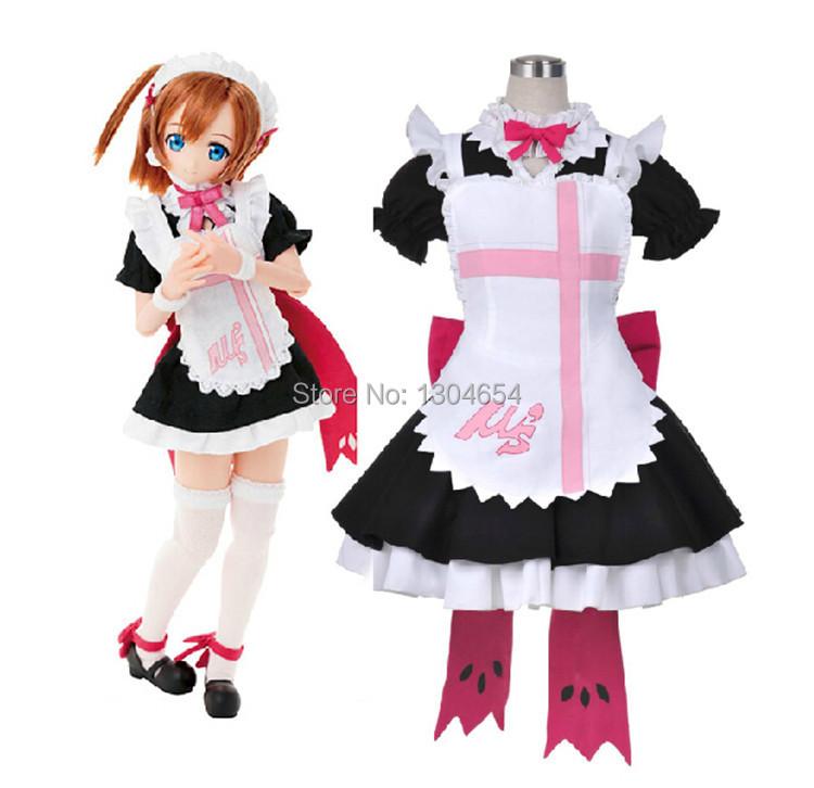 B&P Coldplay Love Live! Kousaka Honoka Maid Cosplay Costumes Lolita Dress Women Disfraces Halloween - store