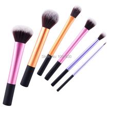 6 Pcs Pro Techniques Powder Cosmetic Makeup Brushes Kit Set Foundation Tools Blush Eyeshadow Brushes(China (Mainland))