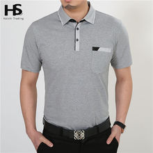 Buy Free Short Sleeve T Shirt Cotton Clothing Men T-Shirt Pocket Casual Dress Factory Wholesale Plus Size S XXXXL 2229 for $11.55 in AliExpress store