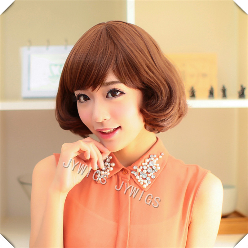 High Quality Sexy Young Lady Middle Aged Women Synthetic Fashion Style Short Heat Resistant Hair Full Wig<br><br>Aliexpress
