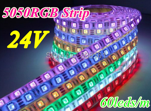 Magic color 5050 RGB 300LED/5m DC24V LED strip Light Waterproof IP65 Lighting 60leds/m - Professional Wholeseller store