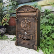 European style bronze mailbox / newspaper box / wall-mounted storage box rust newspaper / Villa mail(China (Mainland))
