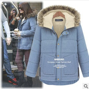 Free Shipping new 2014 winter womens big size jacket coat natural long cotton-padded thick feather hoodies parka collars jacketОдежда и ак�е��уары<br><br><br>Aliexpress