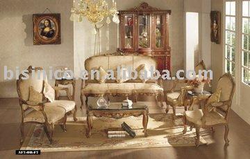Classique tissu rembourr divan bois renomm e divan for Divan en bois