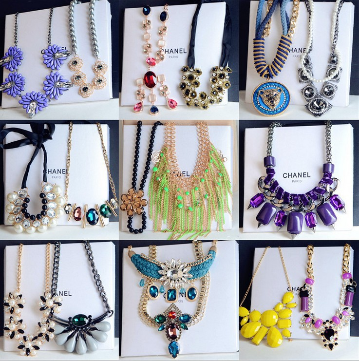 Amazing and Cheap Necklaces Mix Lots Statment Necklace 2015 Collares Bijoux Women Choker Necklace<br><br>Aliexpress