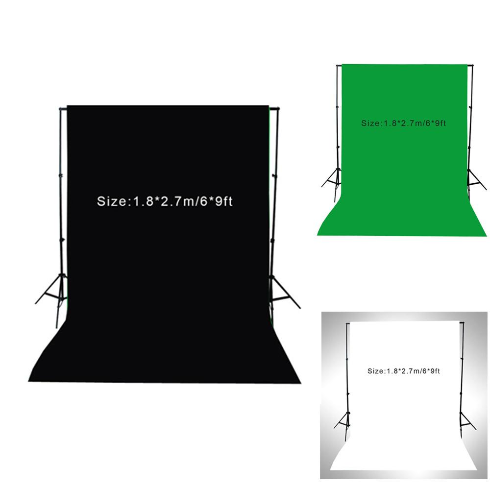 NEW 1.8 * 2.7m / 6 * 9ft Photography Screen Backdrop Muslin Cotton Video Photo Lighting Studio Background Green/White/Black(China (Mainland))