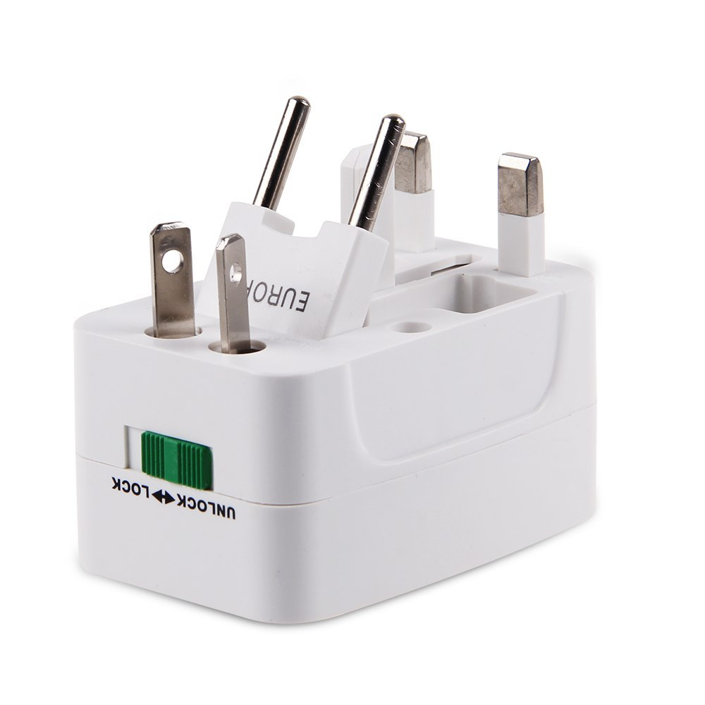 Universal World Charger Plug All-in-one Travel AC Power Adapter Converter to US/UK/AU/EU Free Shipping(China (Mainland))