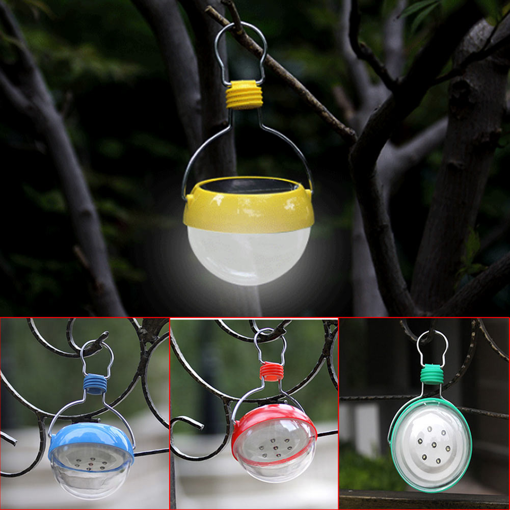 2017 Portable Outdoor Portable LED Solar Power Hanging Lantern Camping Lamp Tent Light With Stainless Steel Hand Hook(China (Mainland))