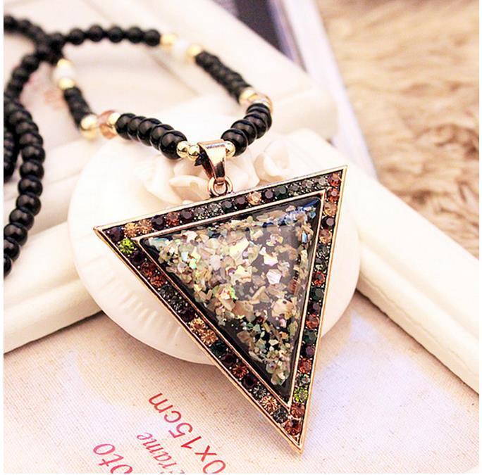 Pendants Ms. Long payments ornaments upscale new clothing accessories retro gem pendant Korean decorative necklace(China (Mainland))
