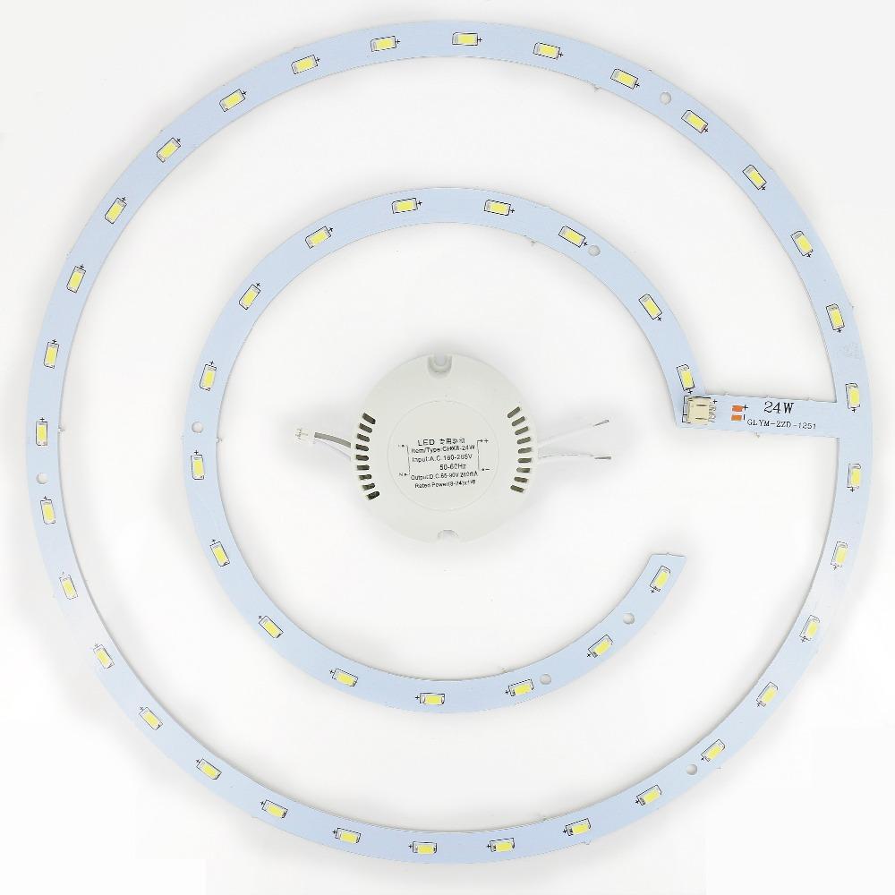 diy 24W LED Ring PANEL Circle Light LED Round Ceiling board the circular lamp board SMD 5730 48 Leds + power driver AC 180-265V(China (Mainland))