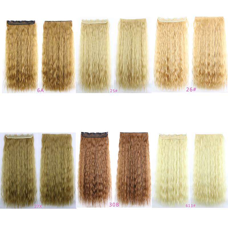 14Colors Brazilian 5Clip In Hair Extensions Fluffy Loose Wave 110g 60cm Synthetic Heat Resistant Natural Hairpieces Hair Piece<br><br>Aliexpress