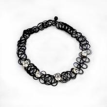 Fashion Collar Vintage Stretch Tattoo Choker Rhinestone Necklace Punk Retro Gothic Elastic Necklaces for Women Christmas Gift(China (Mainland))
