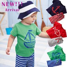 Children Boys Clothing Sets Cotton T-Shirt + Striped Pants Outfit Boy Kids Summer Clothes Newborn Sport Suits Jogging Tracksuit