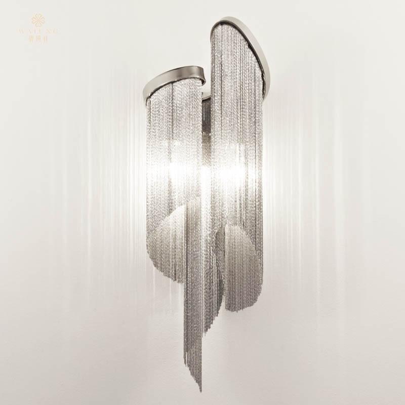 Fashion 2015 Modern tassel pendant chain simple and stylish living dining room light fixtures Aluminium Wall lamp(China (Mainland))