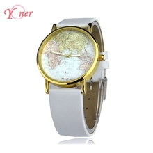 Yoner 11 Colors Drop Shipping Casual Watches Unisex Quartz Watch Map Printing Picture Alloy Dress Watch Womens Analog Wristwatch