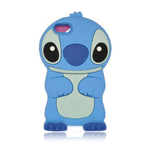 Style cute cartoon model silicon material Stitch 3D shape Movable Ear cover phone Case Apple iPhone 4S/5 5S 5C/6s/6PLUS - Mary store
