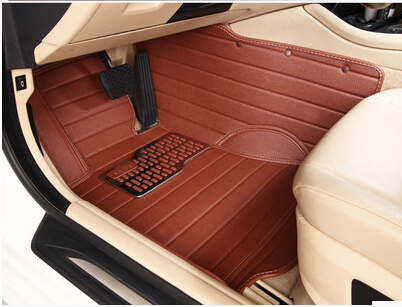 Newly! Custom special floor mats for Cadillac Escalade 7seats 2015 durable leather carpets for Escalade 2014-2005,Free shipping(China (Mainland))