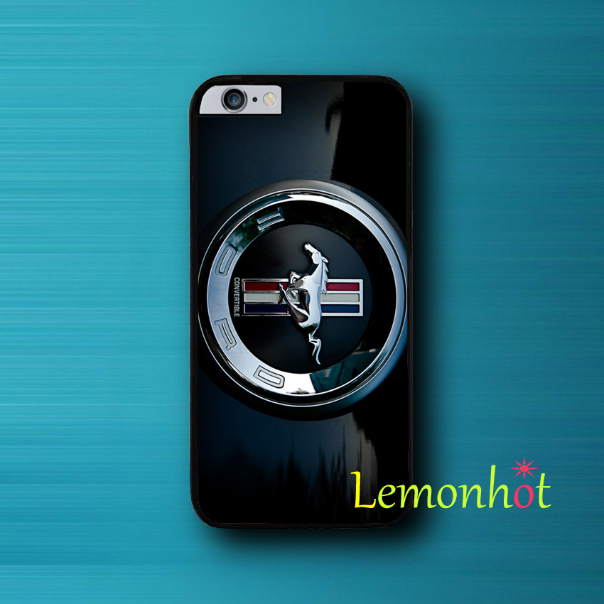 2016 Coque Black Mustang Car Brand Cute Phone Case for iPhone SE 5 5S 5C 4 4S 6 6S Plus Cover for iPod Touch 6 iPod Touch 5 Case(China (Mainland))