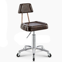 Senior hairdressing chair with backrest stool lifting rotating PU barber chair salon furniture(China (Mainland))
