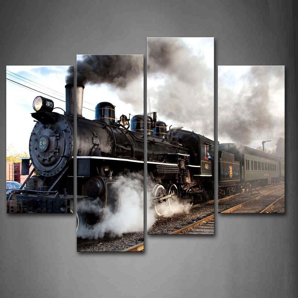 Trein schilderij promotie winkel voor promoties trein schilderij op - Gang schilderij ...