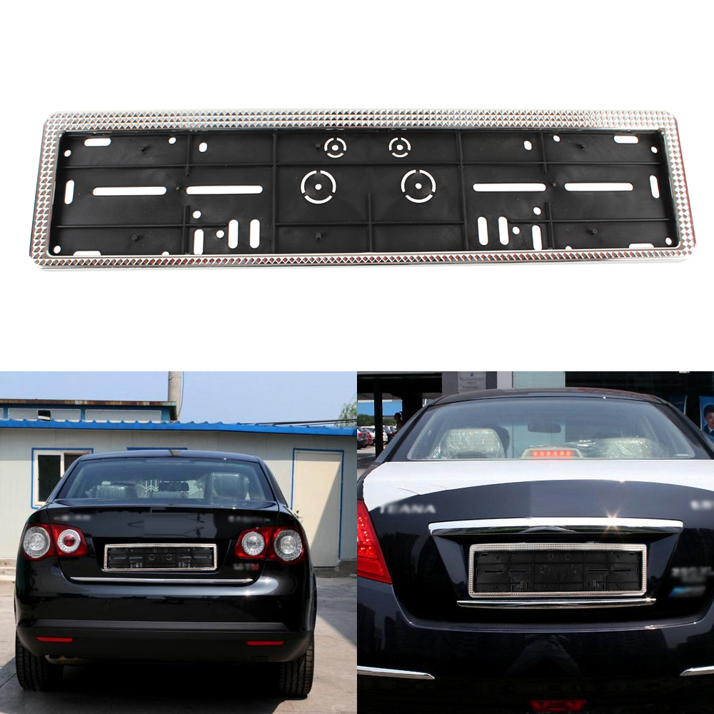 European Universal Car Plastic License Plate Frames EU Auto Number Plate Frame Holder OB-209 Car Styling(China (Mainland))