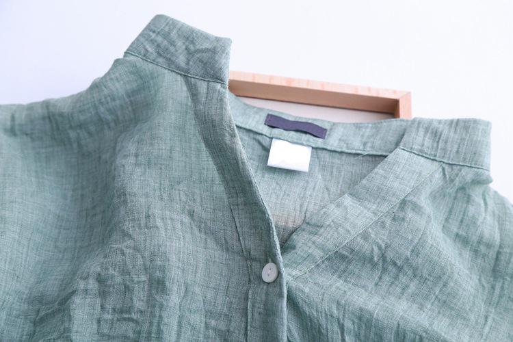 6480 2015 летний стиль женщины блузки свободного покроя свободно Большой размер хлопок белье блузка три четверти рукав рубашки женщины топы blusas