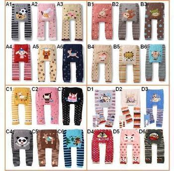 Baby Pants Boys girls cartoon print knitted busha brand pp pants elastic waist toddler Leggings Kids Clothes 3-24 M