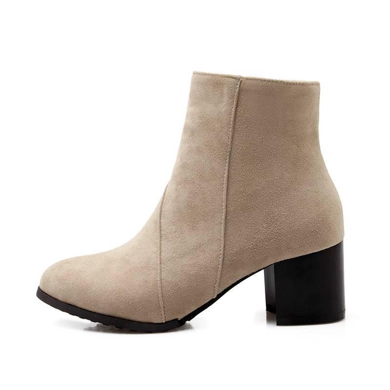 ซื้อ พลัสSize34-43 2016ใหม่เซ็กซี่รองเท้าผู้หญิงรองเท้าส้นหนารองเท้าข้อเท้า4สีแพลตฟอร์มปั๊มฤดูหนาวสตรีขี่บู๊ทส์SBT2589
