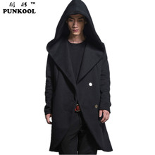 PUNKOOL New Arrival Trench Coat Men Plus Long Trench Outerwear Male  Winter Jacket Mens Overcoat Casual Covered Cotton Trench (China (Mainland))