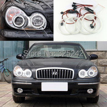 For Hyundai Sonata 2002 2003 2004 2005 Excellent angel eyes Ultrabright illumination smd led Angel Eyes Halo Ring kit(China (Mainland))