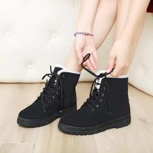 Mujeres Botas de invierno moda mujeres Botas de Mujer Botas de piel de nieve Botas mujeres tobillo Botas talones planos zapatos de invierno zapatos calientes de la nieve 2015