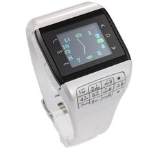Wrist Watch Cell Phone Dual SIM Card Quad-band Keypad Touch Screen Q3 Phone Watch White(China (Mainland))