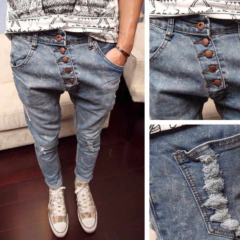 Как сделать мужские джинсы модными фото