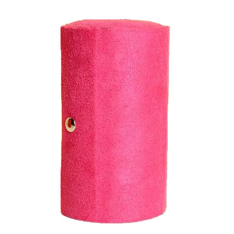 Multifunctional Fabric 3 layers Jewelry Display Box Cylinder Shape Organizer Flannel Round Portable Travel Storage Case Creative(China (Mainland))